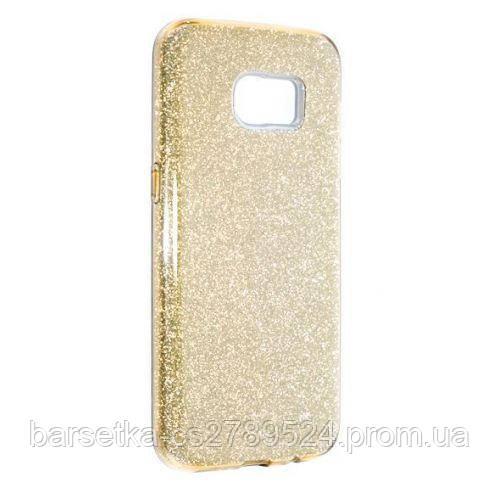 Чехол-накладка Candy 2in1 для Samsung Galaxy S7 Edge (G935), золотой