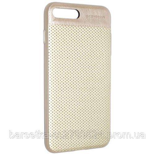 Чехол-накладка Easybear Leather для Apple iPhone 7 Plus Бежевый