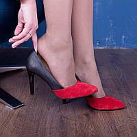 Женские классические туфли на шпильке 9 см. Натуральная кожа, замша. Любая комбинация цвета. Размер 36-40.