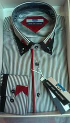 Мужская рубашка FGC приталенная, спортивная DIAMOND