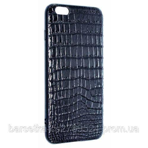 Чехол-накладка Leather Style для Apple iPhone 6 Plus/6S Plus, черный