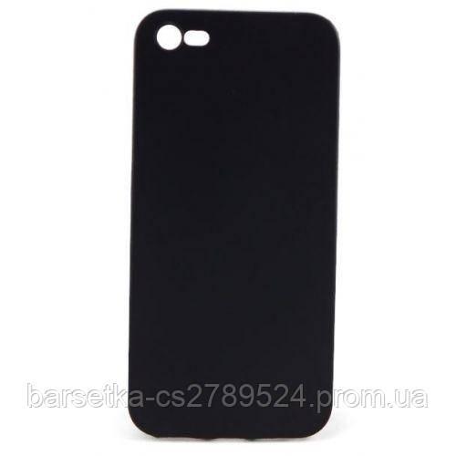 Чехол-накладка Matte для Apple iPhone 5/5S/SE, черный