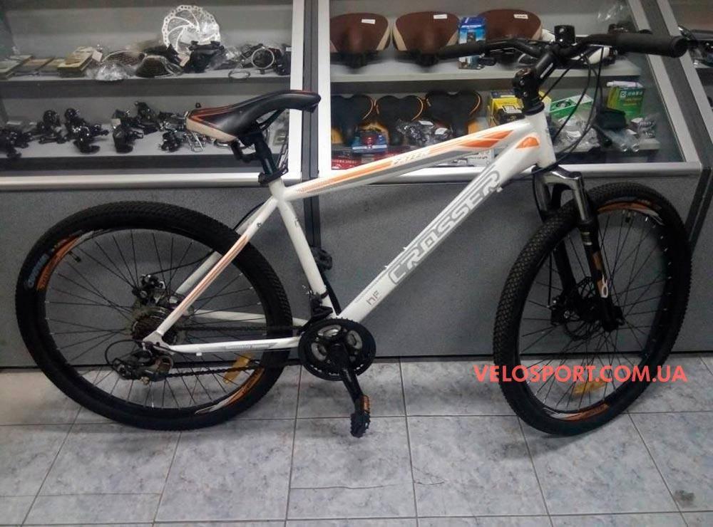 """Горный велосипед Crosser Faith 29 дюймов 19"""" бело-оранжевый"""