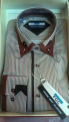 Мужская рубашка FGC DIAMOND шоколад