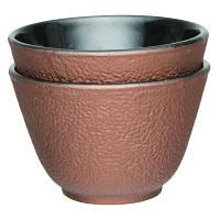 """Набор чашек для чая, чугун, """"золотой"""", 100 мл, 2 шт."""