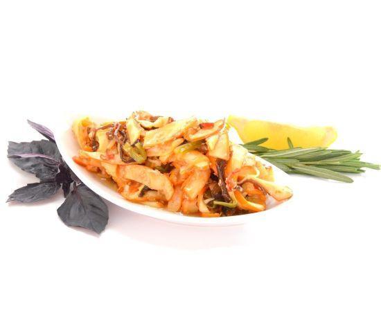 Готовый замороженный салат из кальмаров, 1 кг