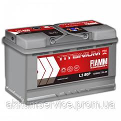 Аккумулятор автомобильный Fiamm Titanium Pro 80AH R+ 730А (L3 80P)