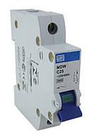 Автоматический выключатель модульный 1 полюс, хар-ка С