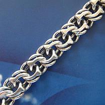 Cеребряный мужской браслет, 210мм, 15 грамм, плетение Бисмарк, фото 3
