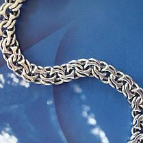 Cеребряный мужской браслет, 210мм, 15 грамм, плетение Бисмарк, фото 2