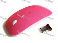 Супертонкая беспроводная радио мышь мышка, розовая