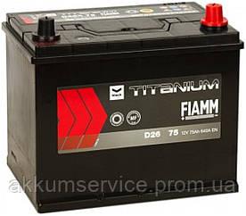 Аккумулятор автомобильный Fiamm Black Asia 75AH R+ 640А