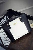 Женская сумка черная большая вместительная из полиэфира опт, фото 1
