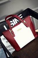 Женская сумка бордовая вместительная из полиэфира опт, фото 1