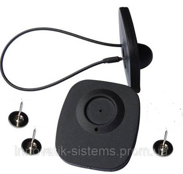 Антикражный датчик Мини можно использовать с иголкой либо с тросиком