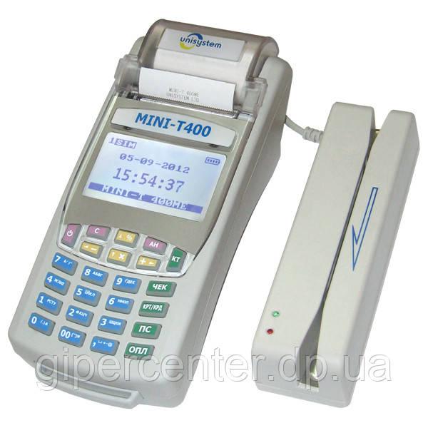 Кассовый аппарат Unisystem MINI-T 400МЕ с КСЕФ, версия 4101-6 (со встроенным GSM/GPRS-модемом) - GIPERCENTER Dnepr в Днепре