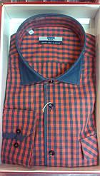 Мужская рубашка FGC приталенная спортивная клетка
