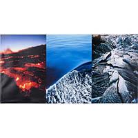 Картина KARE Tryptichon Fire & Ice 60x120