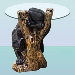 Журнальный стеклянный стол, оригинальный кофейный столик Пума (М)