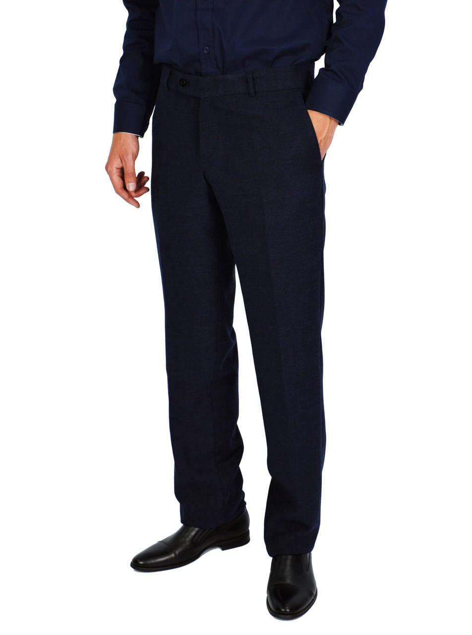 Темно-синие плотные мужские брюки классические VIK VLADIS