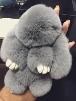 """Меховый брелок """"Зайчик"""", подвеска на сумку, игрушка мягкая на сумку Kopengaden Fur"""