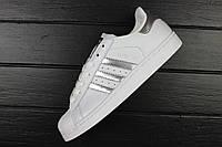"Кроссовки женские adidas Superstar ""Ftwr White/Silver Metallic/Core Black"" / ADW-1580 (Реплика)"