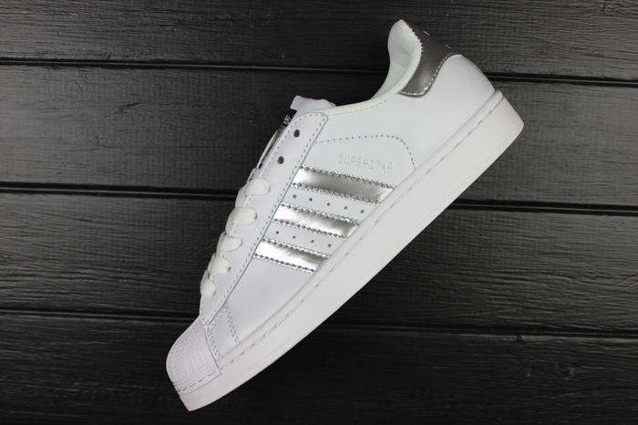 "Кроссовки женские adidas Superstar ""Ftwr White/Silver Metallic/Core Black"" / ADW-1580"