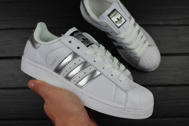 "Adidas Superstar ""Ftwr White/Silver Metallic/Core Black"""