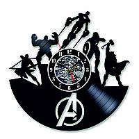 Настенные часы из виниловых пластинок LikeMark Avengers