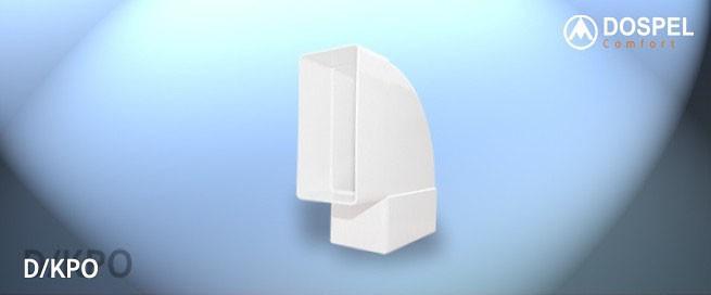 Колено плоское Dospel D/KPO 110x55 (007-0225)