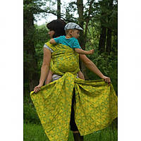 Слинг-шарф YAROSLINGS Yaro La Fleur Blue-Yellow Linen (40% лён) (4,6 м)