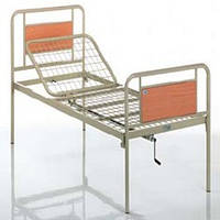 Функциональная кровать металлическая двухсекционная (включая доставку)