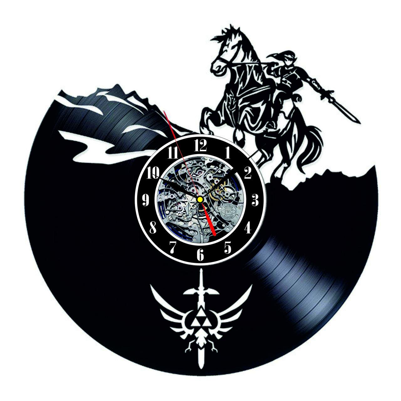 Настенные часы из виниловых пластинок LikeMark The Legend of Zelda