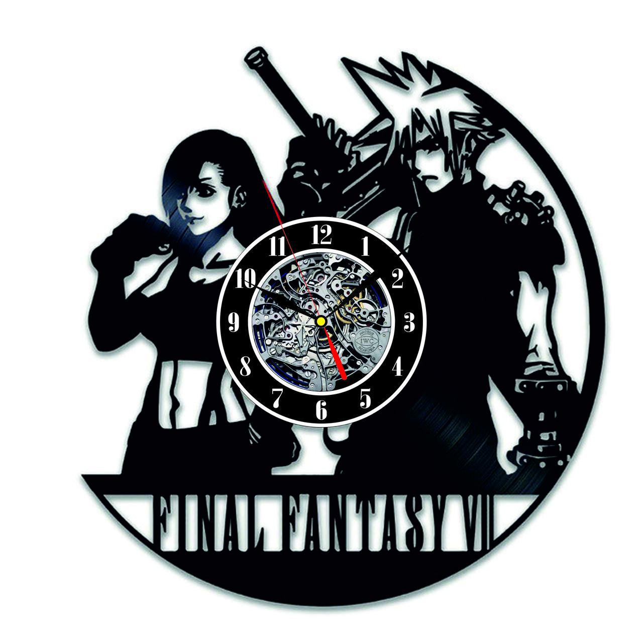 Настенные часы из виниловых пластинок LikeMark Final Fantasy VII