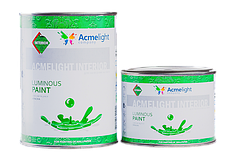 Светящаяся краска для стен Acmelight INTERIOR 0,25л, 0,5л, 1л (9 цветов)