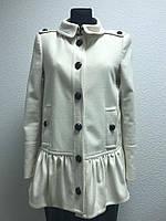 Светлое шерстяное пальто Burberry