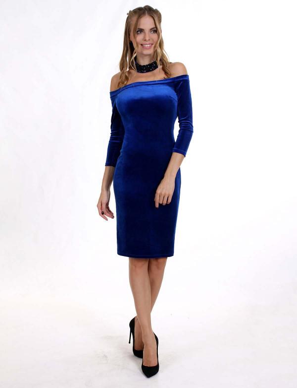 Платье  женское  электрик  вечернее ENIGMA MKENP 0906