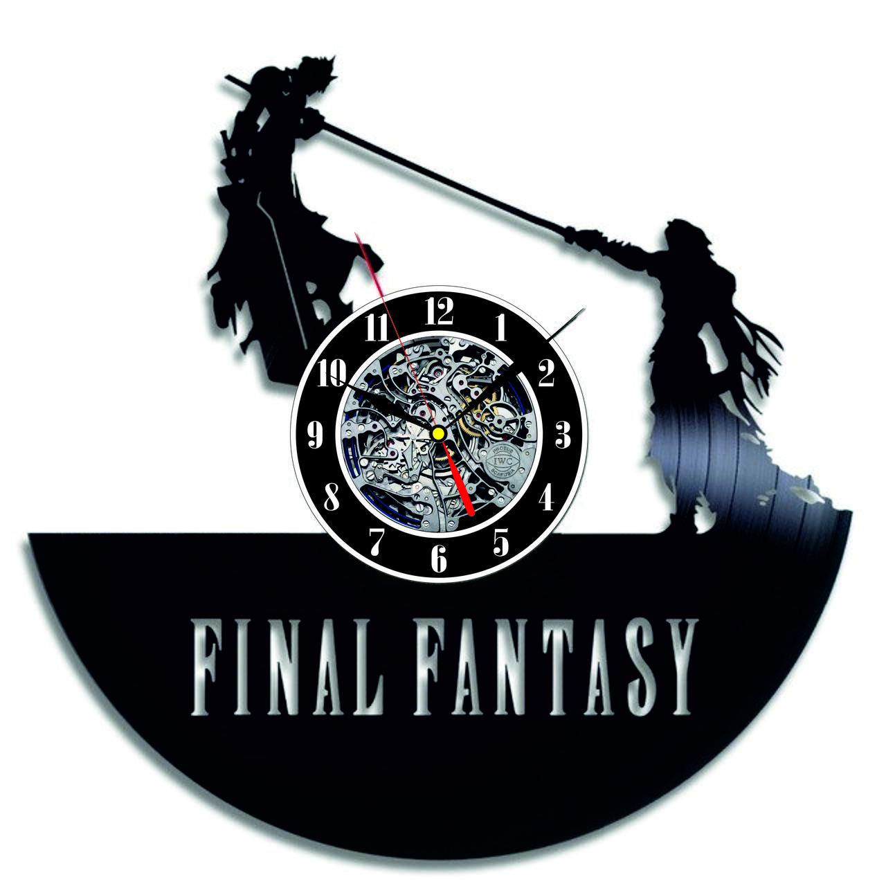 Настенные часы из виниловых пластинок LikeMark Final Fantasy