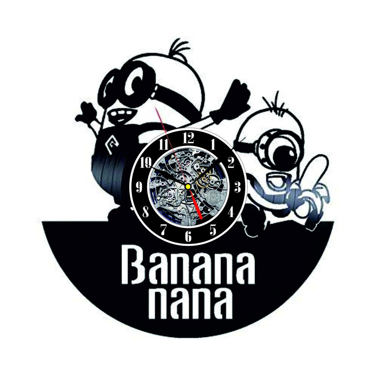 Настенные часы из виниловых пластинок LikeMark Minions
