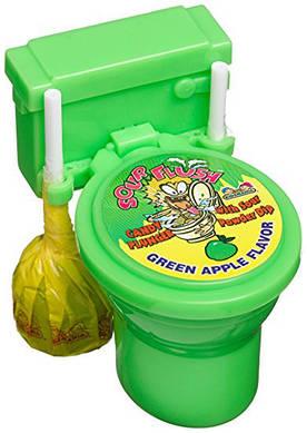 """Kidsmania Sour Candy Toilet Необычные конфеты """"Унитазики"""" (зеленые)"""