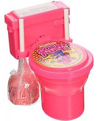 """Kidsmania Sour Candy Toilet Необычные конфеты """"Унитазики"""" (розовые)"""