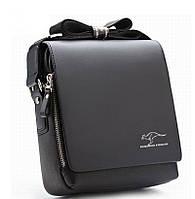 Мужская сумка барсетка Kangaroo Kingdom Черная и Коричневая Черный