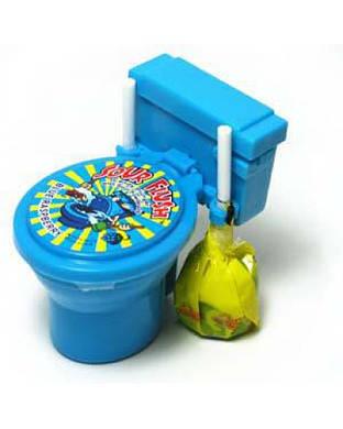 """Kidsmania Sour Candy Toilet Необычные конфеты """"Унитазики"""" (голубые)"""