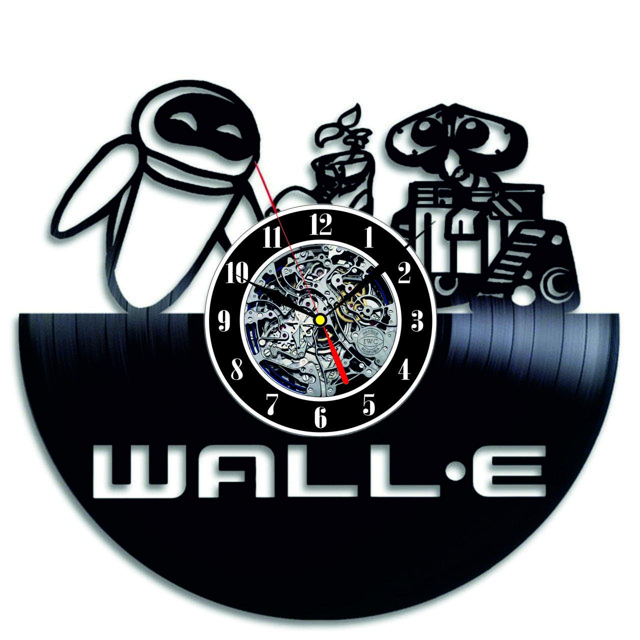 Настенные часы из виниловых пластинок LikeMark WALL-E