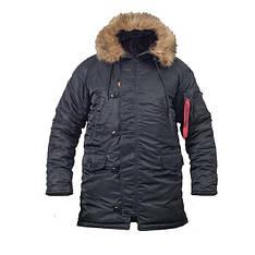 Куртка зимняя slim fit аляска n-3b Black