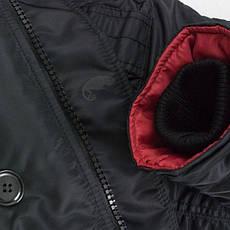 Куртка зимняя slim fit аляска n-3b Black, фото 3