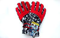 Перчатки горнолыжные  женские (подростковые) LUCKYLOONG RED В 3636 (красный), фото 1