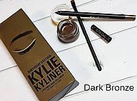 "Гелевая подводка + карандаш + кисть Kylie Cosmetics Kyliner Kit "" dark bronze"