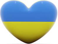 Флаг Украины сердце.Наклейки и магниты