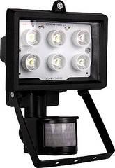 Прожектор светодиодный с датчиком движения e.light.LED.sensor.150.6.6.2700.black 6Вт черный